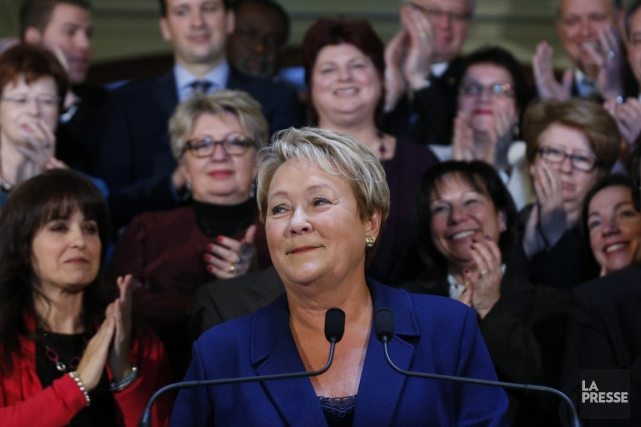 La chef péquiste, Pauline Marois... (Photo Mathieu Belanger, Reuters)