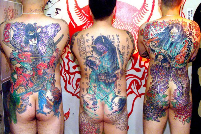 La baisse du nombre de yakuzas connus pourrait... (PHOTO ARCHIVES AFP)