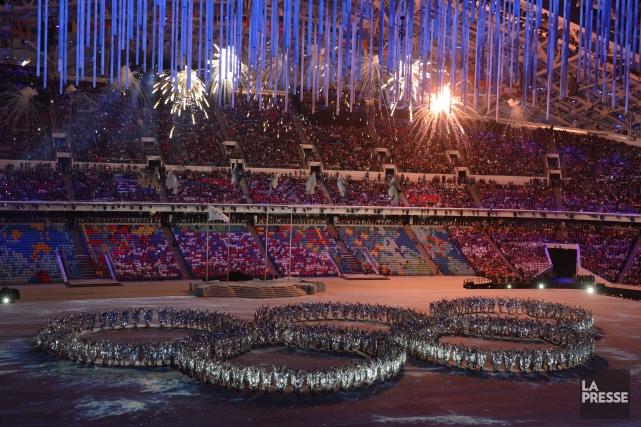 La cérémonie de clôture des Jeux olympiques de... (Photo Bernard Brault, La Presse)