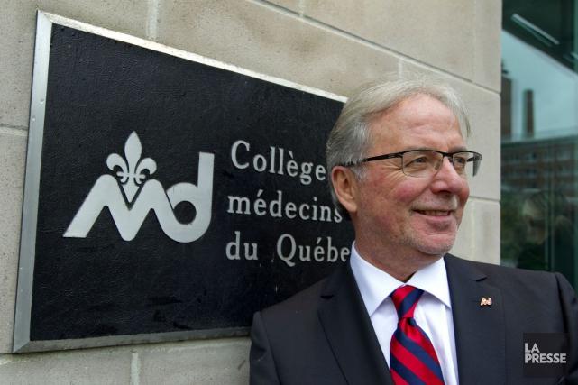 Le Dr Charles Bernard, président du Collège des... (Archives La Presse, Alain Roberge)