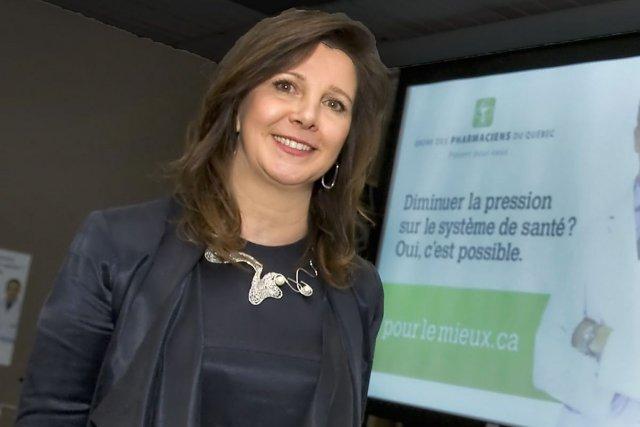 Diane Lamarre, présidente de l'Ordre des pharmaciens.... (Photo La Presse canadienne)