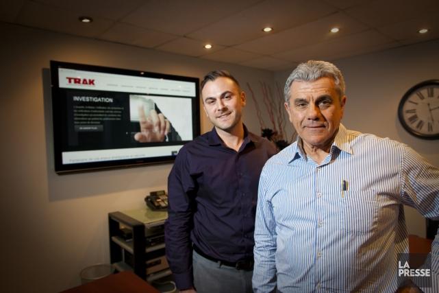 Maurice Dalpé (à droite), anciennement président d'Investigations D.L.,... (Photo André Pichette, La Presse)