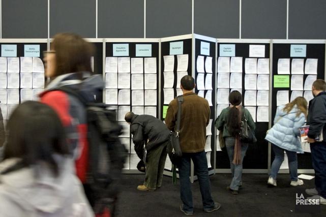 Au Québec, le nombre de personnes en emploi... (PHOTO ALAIN ROBERGE, ARCHIVES LA PRESSE)