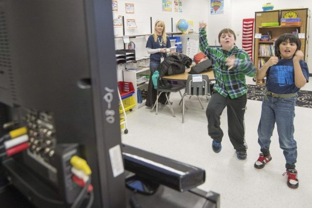 L'école élémentaire Steuart W. Weller d'Ashburn (Virginie), à... (PHOTO PAUL J. RICHARDS, AFP)