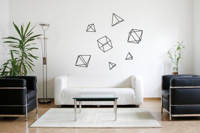 Les autocollants muraux aux formes géométriques ont été... (Photo fournie par mpgmb)