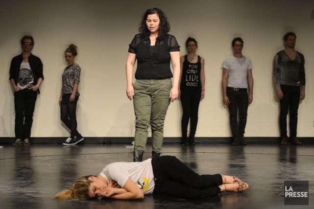 Comment transforme-t-on en pièce de théâtre un premier roman écrit par une... (Photo: Bernard Brault, La Presse)