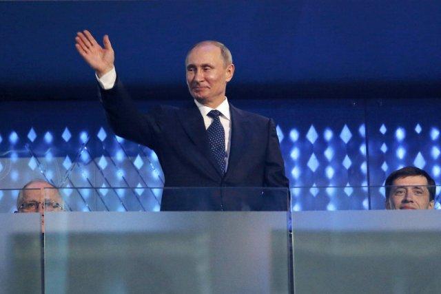 Le président russe Vladimir Poutine était à Sotchi... (PHOTO ALEXANDER DEMIANCHUK, REUTERS)