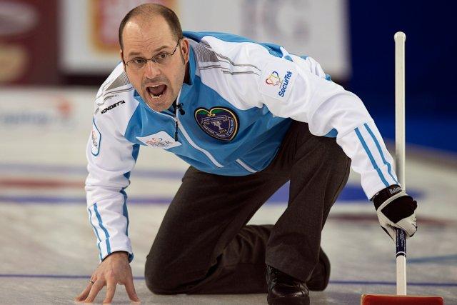 Le skip de l'équipe du Québec, Jean-Michel Ménard.... (Photo Andrew Vaughan, PC)