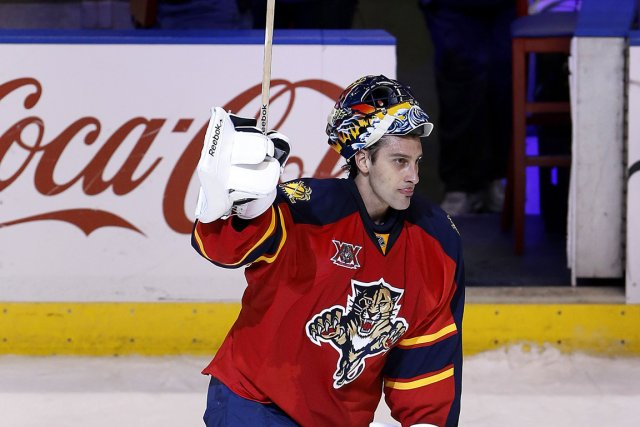 Roberto Luongo a récolté son quatrième jeu blanc de la... (PHOTO ROBERT MAYER, USA TODAY)