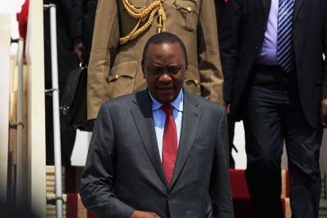 Le président du Kenya, Uhuru Kenyatta.... (PHOTO ANDREEA CAMPEANU, REUTERS)