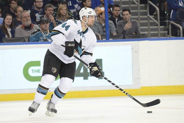 Le défenseur Marc-Édouard Vlasic, des Sharks de San... (Photo Jonathan Dyer, USA Today)