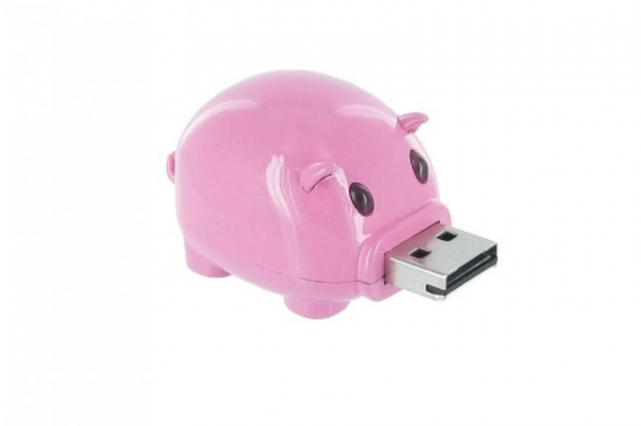La clé USB en forme de cochonnet rose que l'avocat Franco Schiro a envoyée à un... (Photo tirée d'internet)