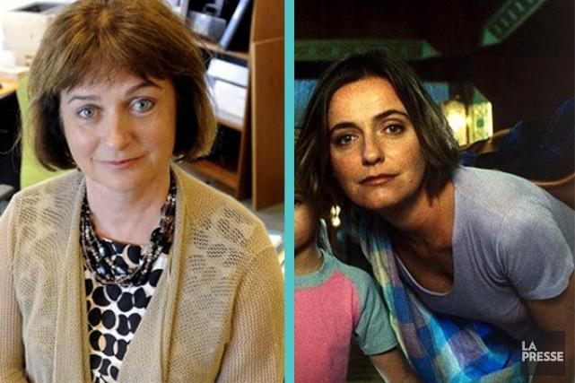 Julie Miville-Dechêne et Leonor Silveira... (Photo La Presse)