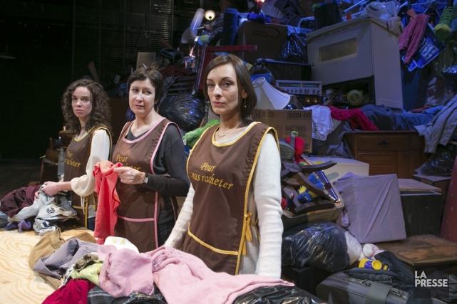 Les comédiennes Catherine Ruel, Marie Michaud et Geneviève... (PHOTO HUGO-SÉBASTIEN AUBERT, LA PRESSE)