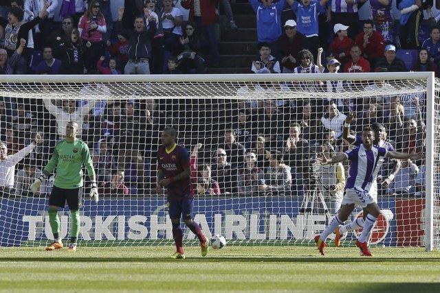 Le Barça s'est incliné sur un but de... (PHOTO CESAR MANSO, AFP)