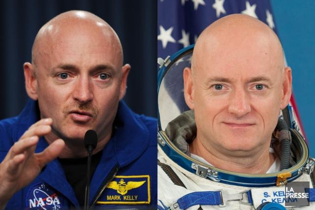 Scott Kelly (à droite) a passé une année... (PHOTOMONTAGE LA PRESSE)
