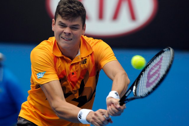 Milos Raonic disputait un premier match depuis sa défaite... (PHOTO ARCHIVES ASSOCIATED PRESS)