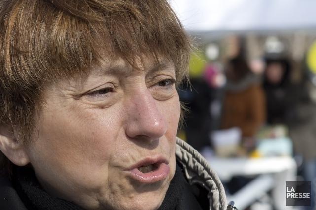 La candidate de Québec solidaire, Françoise David... (Photo Robert Skinner, La Presse)