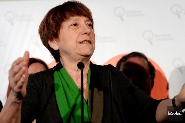 La porte-parole de Québec solidaire, Françoise David... (PHOTO ÉRICK LABBÉ, LE SOLEIL)