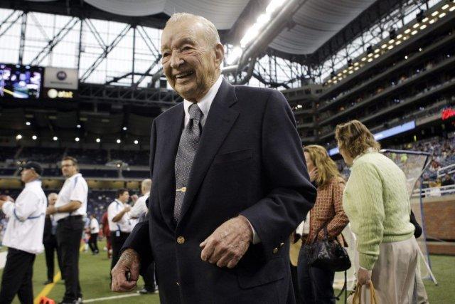 William Clay Ford détenait les Lions de Detroit... (Photo Paul Sancya, AP)