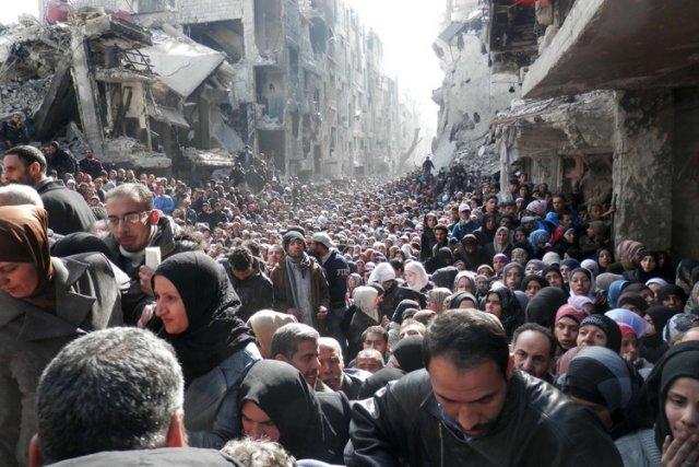 L'armée syrienne a transformé le quartier de Yarmouken... (Photo: AFP)