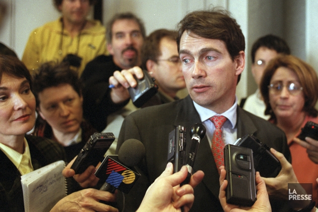 Pierre Karl Péladeau en 2000... (PHOTO ARCHIVES LA PRESSE)