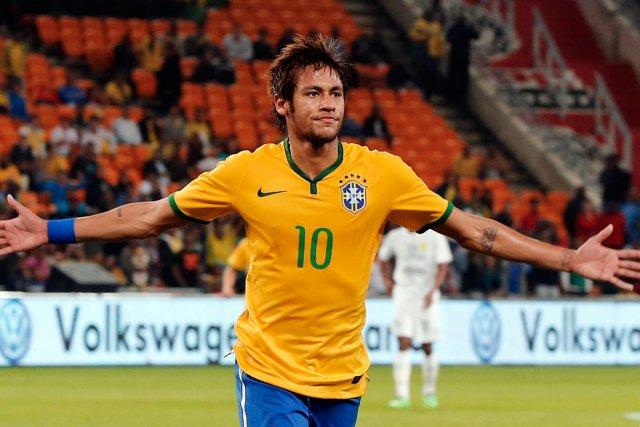 L'attaquant brésilien Neymar.... (Photo Siphiwe Sibeko, Reuters)