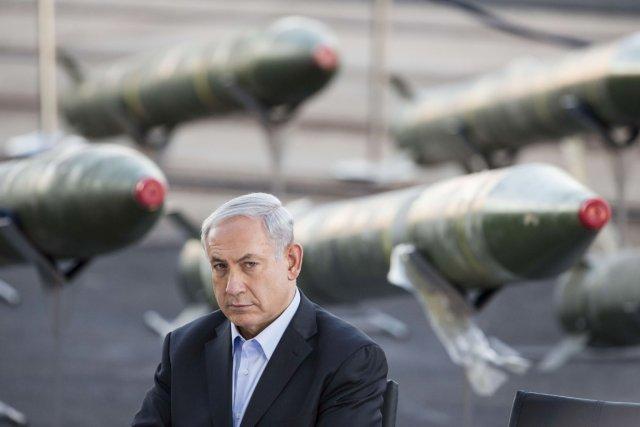 Le premier ministre Nétanyahou lors d'une conférence de... (PHOTO JACK GUEZ, AFP)
