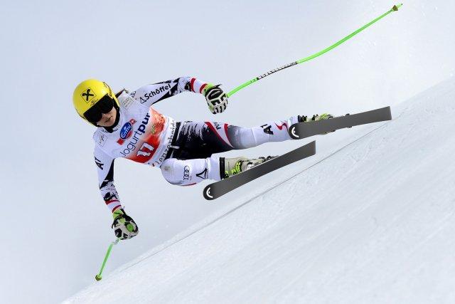 L'Autrichienne Anna Fenninger s'est montrée à l'aise sur... (Photo Fabrice Coffrini, AFP)