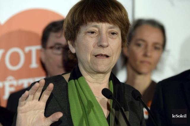 Françoise David... (Photo Le Soleil)