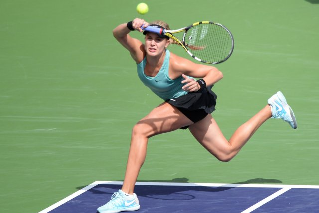 Eugenie Bouchard s'est inclinée 2-6, 6-1, 4-6 contre... (Photo Jayne Kamin-Oncea, USA Today)