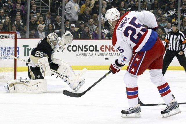 Marc-André Fleury a stoppé les 32 lancers des Capitals de Washington pour... (Photo: Reuters)