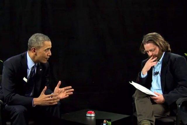 Le président américain Barack Obama était le premier... (Photo tirée d'une vidéo YouTube)
