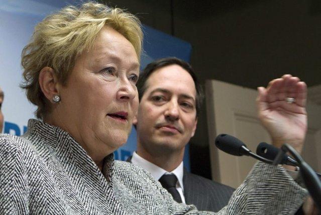 Pauline Marois et Stéphane Bédard.... (Photo La Presse Canadienne)