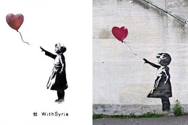 À gauche, la «version syrienne» de La fille...