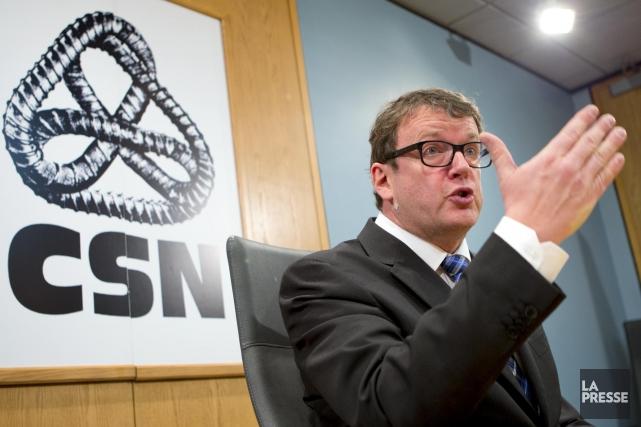Le président de la centrale syndicale CSN, Jacques... (Photo Alain Roberge, La Presse)