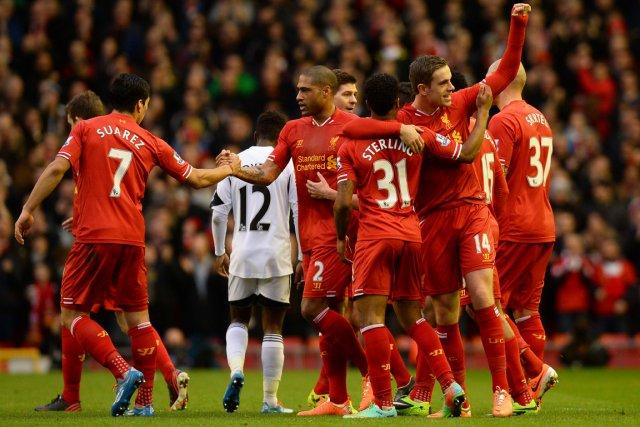 Après 29 matchs sur 38, Liverpool est actuellement... (Photo Andrew Yates, AFP)