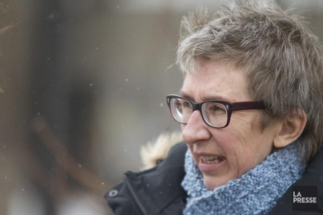 La candidate péquiste dans Gouin, Louise Mailloux.... (Photo Ivanoh Demers, La Presse)