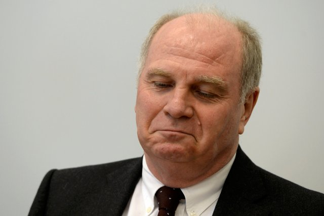 Le président du Bayern Munich, Uli Hoeness.... (Photo Christof Stache, Reuters)