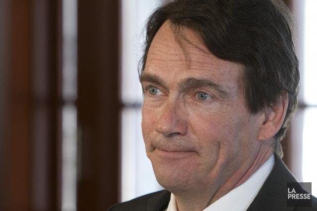 Pierre Karl Péladeau, candidat péquiste dans Saint-Jérôme... (Photo Robert Skinner, La Presse)