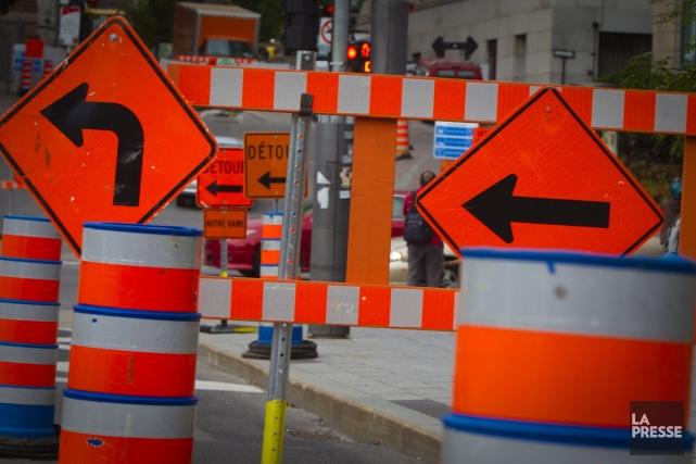 Une quarantaine de chantiers sont prévus à Montréal,... (Photo Andre Pichette, Archives La Presse)
