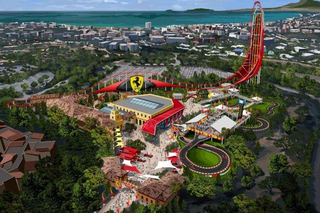 Construit sur 75 000 mètres carrés, «Ferrari Land»... (Illustration fournie par Ferrari)