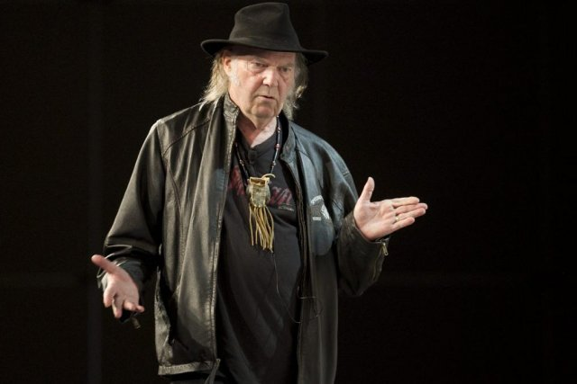 Neil Young a présenté PonoMusic au festival South... (Photo: AP)