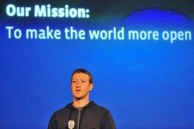Le PDG du réseau social Facebook,Mark Zuckerberg.... (Photo Archives AFP)