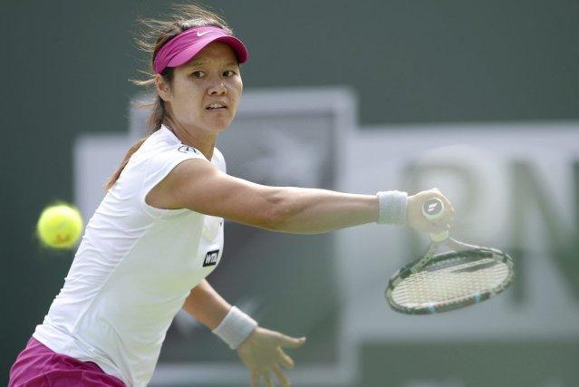 Li Na a défait Dominika Cibulkova 6-3, 4-6, 6-3 dans une reprise de la finale... (Photo USA TODAY Sports)