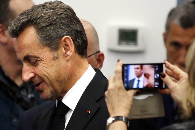 L'ex-président français Nicolas Sarkozy, à Nice, le 10... (PHOTO ÉRIC GAILLARD, ARCHIVES AFP)