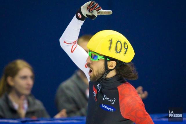 Charles Hamelin a triomphé devant une salle comble... (Photo André Pichette, La Presse)