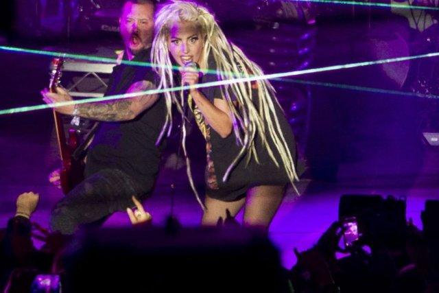 Lady Gaga en spectacle au Stubb's BBQ d'Austin... (Photo: AP)