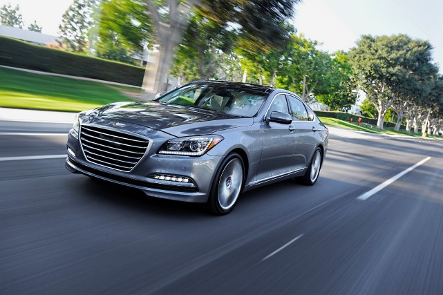 La Hyundai Genesis... (Photo fournie par Hyundai)