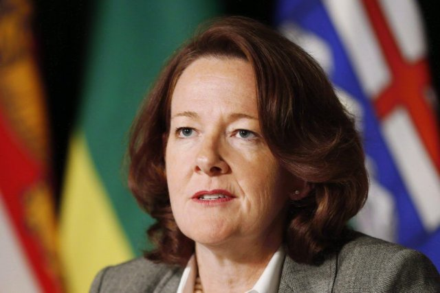 La première ministre de l'Albertafait l'objet de vives... (Photo Mark Blinch, PC)